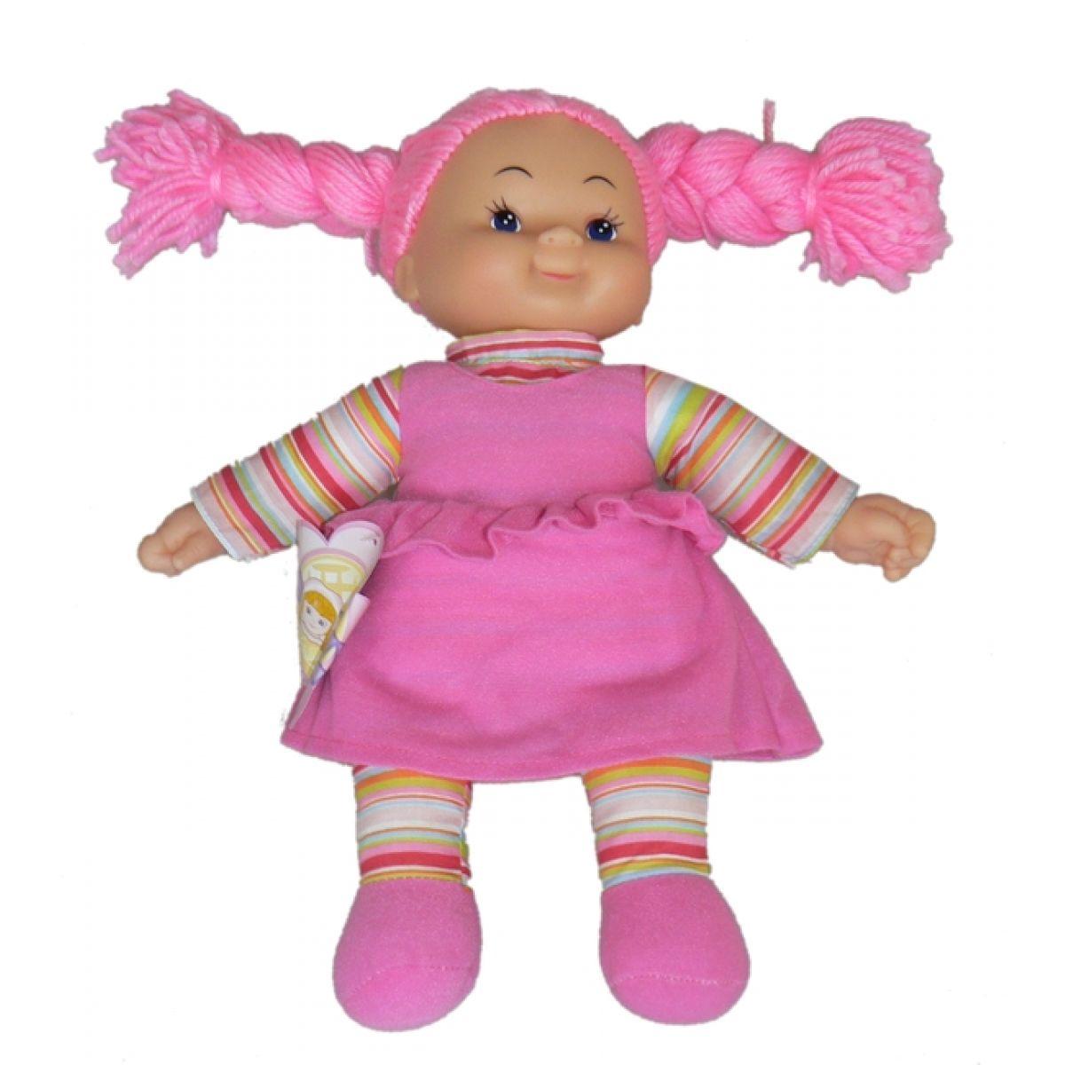Simba Látková panenka Cheeky 38 cm Vlasy růžové zapletené