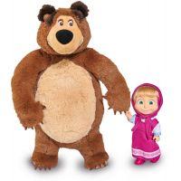 Simba Máša a medvěd Set Míša plyšový 25 cm a panenka Máša 12 cm