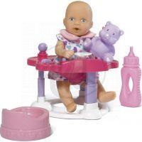 Simba Mini New Born Baby pije a čůrá 2ks s domečkem 3