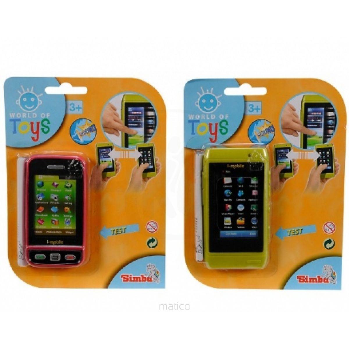 Simba S 4516304 - Mobil s dotykovým displejem, 2 druhy - Červená