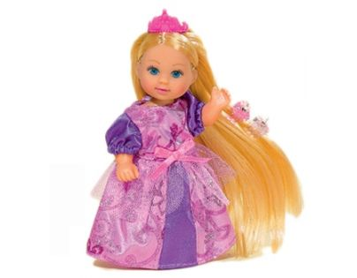 Simba Panenka Evička Rapunzel s extra dlouhými vlasy - Blondýnka-růžová korunka