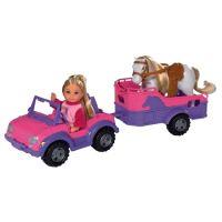 Simba Panenka Evička s džípem a přívěsem pro koně s příslušenstvím