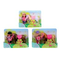 Simba S 5737464 - Panenka Evička s poníkem, 3 druhy