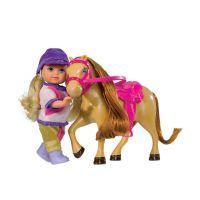 Simba S 5737464 - Panenka Evička s poníkem, 3 druhy 4
