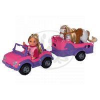 Simba Panenka Evička s džípem a přívěsem pro koně