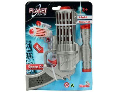 Simba Planet Fighter Laserová pistole 16 cm