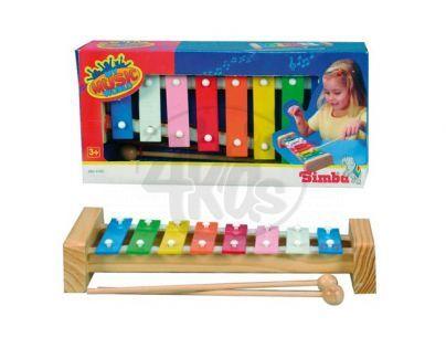 Simba S 6834783 - Xylofon s 8 kovovými klávesami, 27 cm