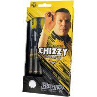 Šípky Harrows Chizzy Brass steel 22g R
