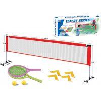 Síť a dvě pálky na soft tenis