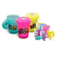 Slime sliz 3pack pro holky růžový, žlutý, zelený