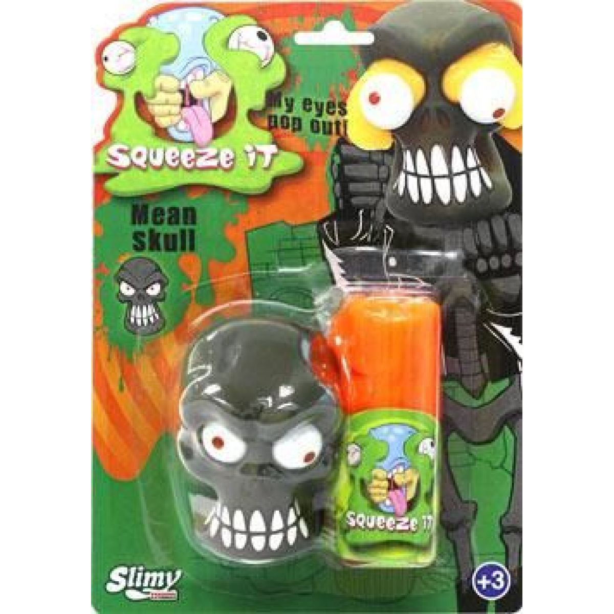 EP Line Slimy se zombie hlavou 80 g slizu oranžový sliz