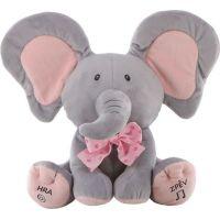Sloník hra na schovávanou růžová mašle