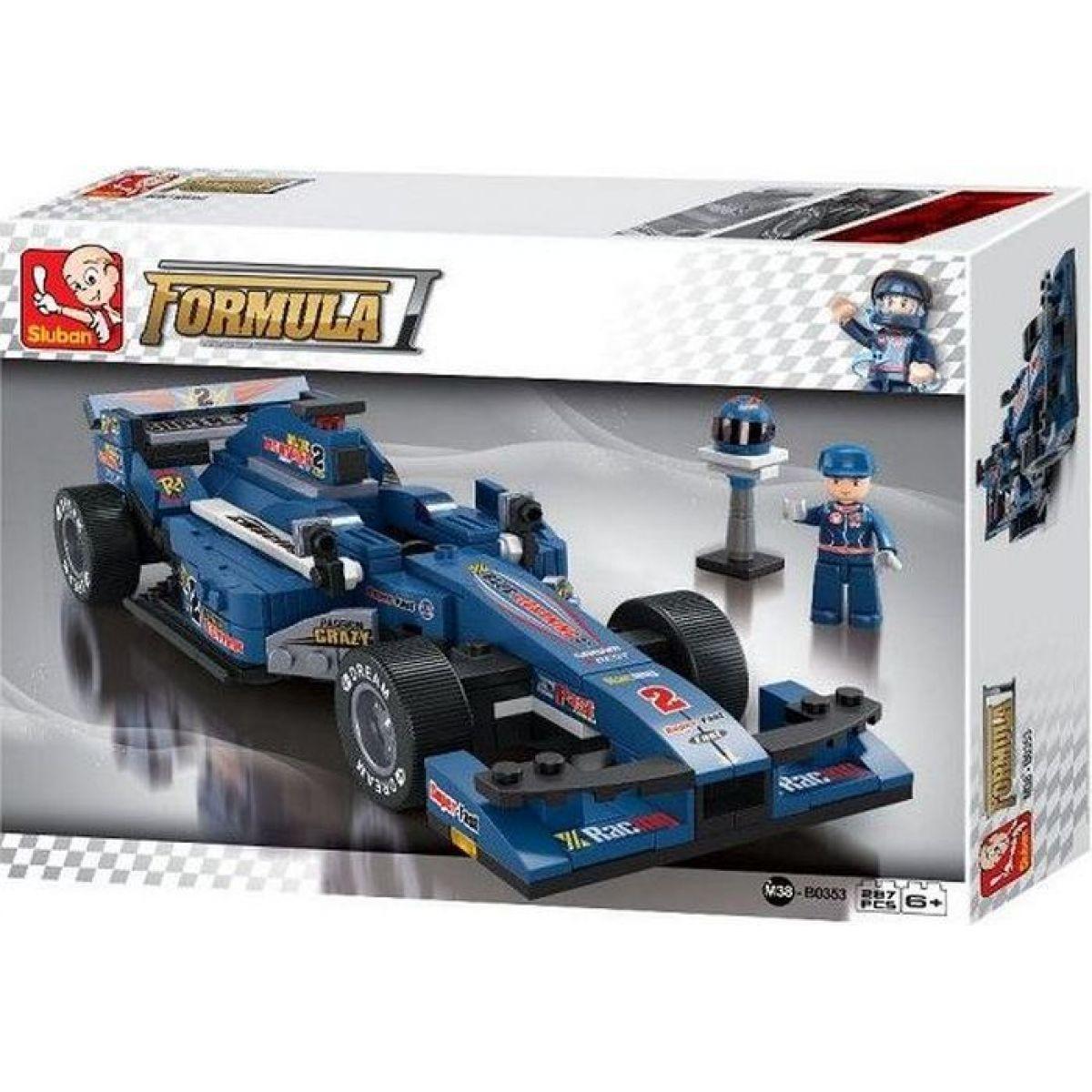 Sluban Stavebnice F1 Závodní auto modré 1:24