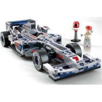 Sluban Stavebnice F1 Závodní auto stříbrné 1:24 2