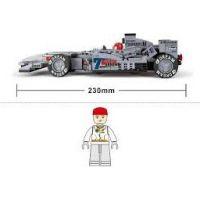 Sluban Stavebnice F1 Závodní auto stříbrné 1:24 6