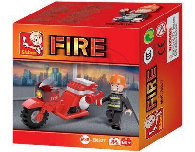 Sluban Stavebnice Požární motorka