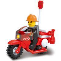 Sluban Stavebnice Požární motorka 2