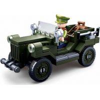 Sluban WWII Vojenský Jeep