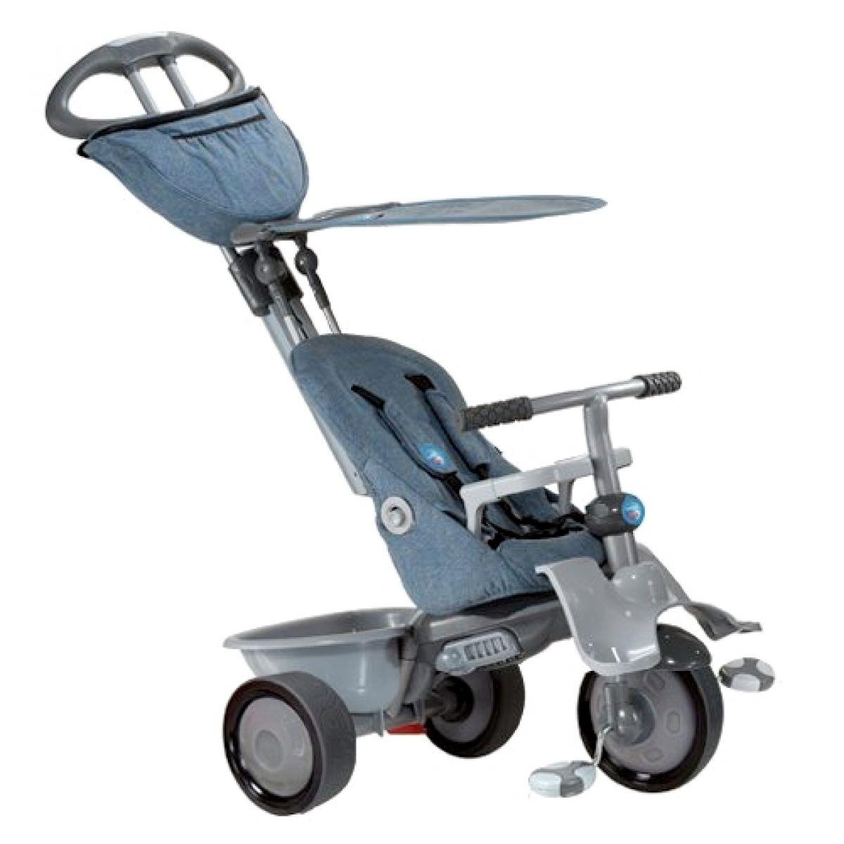 Smart Trike Tříkolka Recliner 4v1 šedostříbrná
