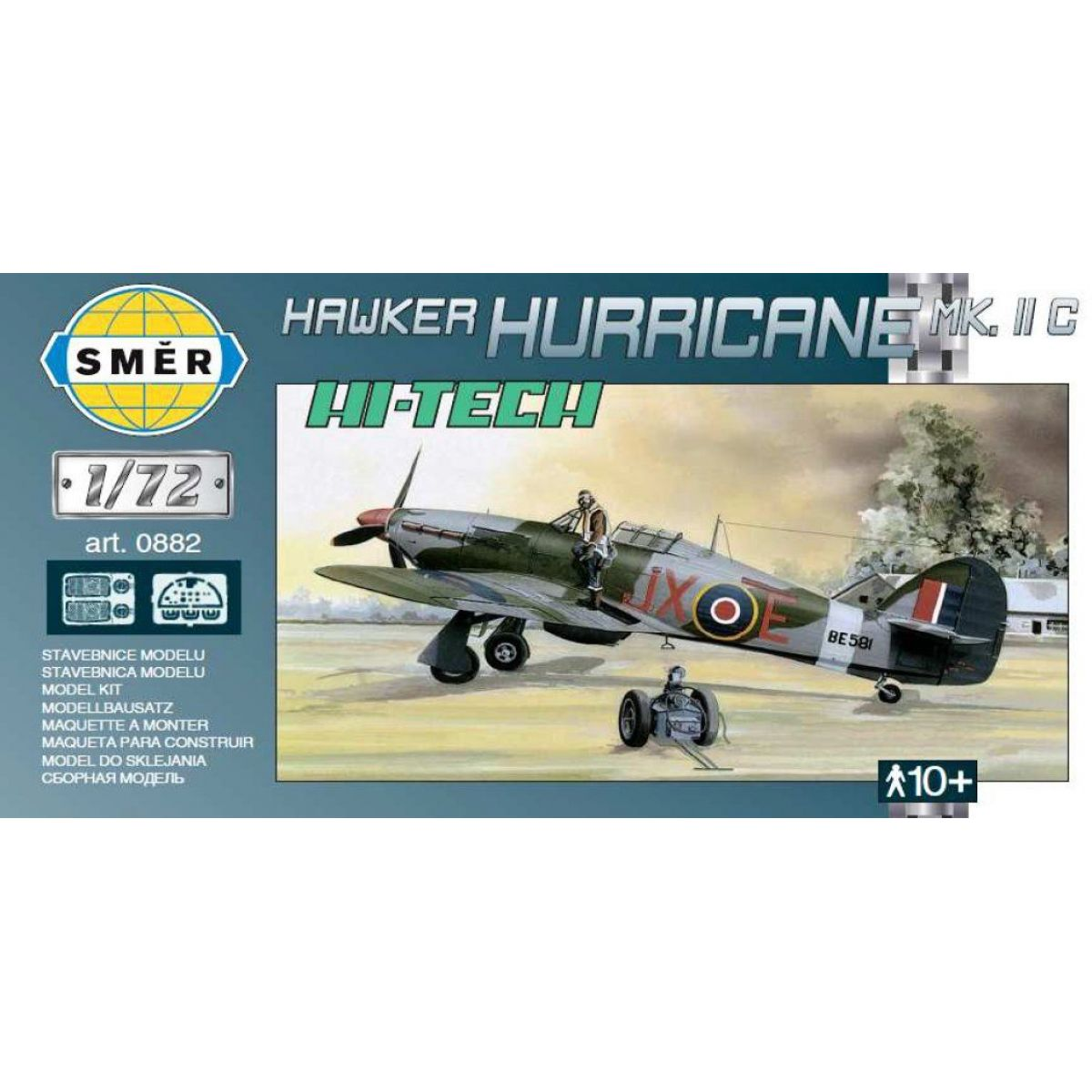Směr Model Hawker Hurricane MK.II HI TECH 1:72