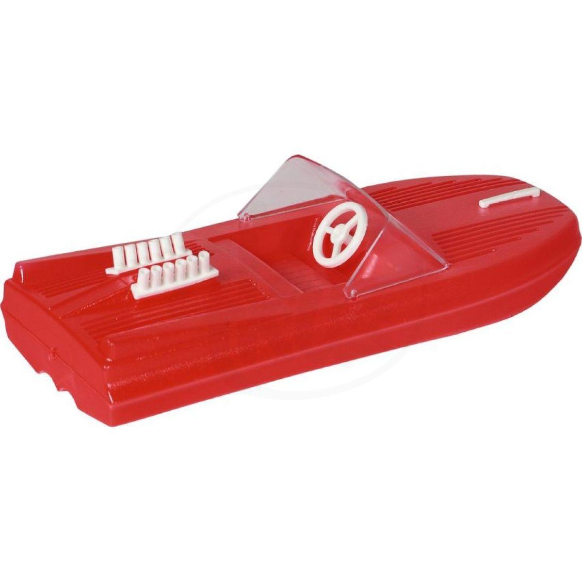Směr Motorový člun 25 cm červený