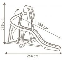 Smoby 310193 - Skluzavka se zatáčkou 380 cm (2014) 2