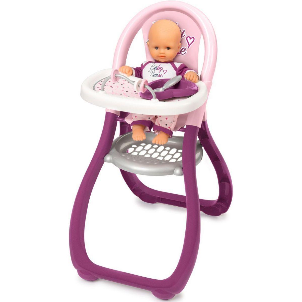 Smoby Baby Nurse jídelní židlička pro panenky