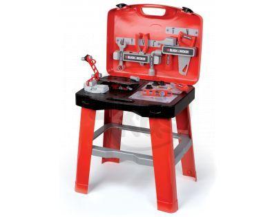 Smoby Black & Decker Dílna pracovní stůl v kufříku