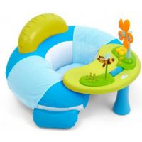 Smoby Cotoons Nafukovací sedátko s aktivity stolečkem - Modrá