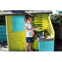 Smoby Domeček Pretty modrozelený s kuchyní 5