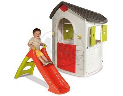 Smoby 310202 - Domeček Natur home + skluzavka XS 90cm s vhlčením
