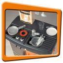 Smoby 024219 - Kuchyňka Bon Appetit červená 2