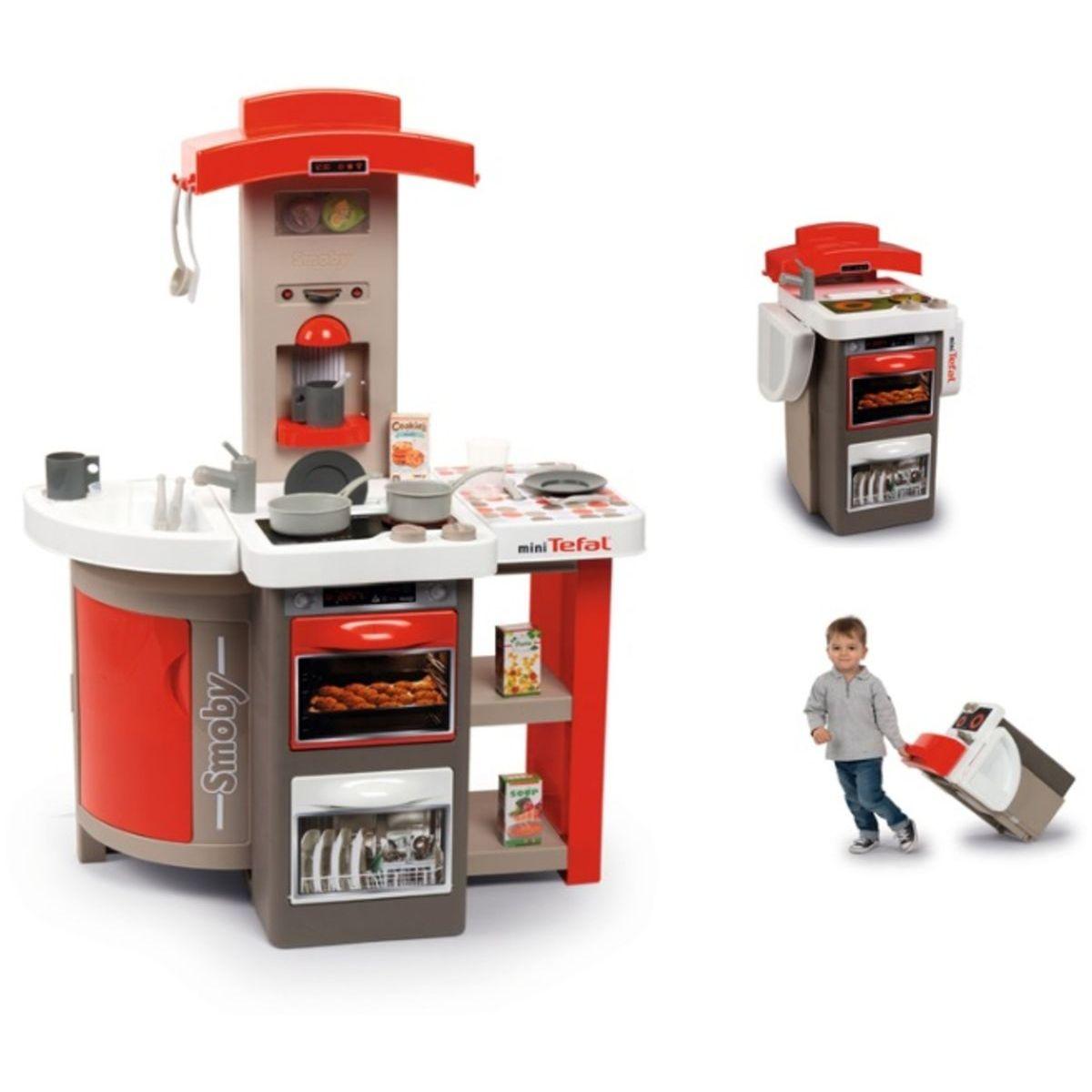 Smoby Kuchyňka Tefal skládací elektronická červená