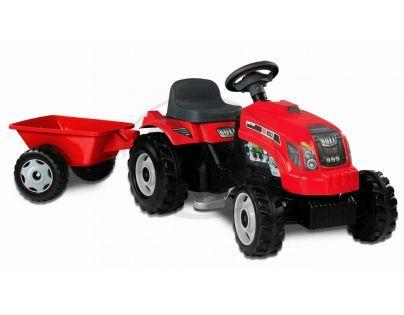Smoby 033045 - Šlapací traktor RX - BULLs vlekem červený