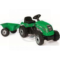 Smoby 033329 - Šlapací traktor GM Bull s vlekem zelený