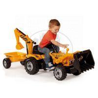 Smoby Šlapací traktor Max s bagrem a vozíkem 2
