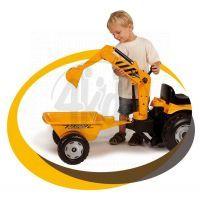 Smoby Šlapací traktor Max s bagrem a vozíkem 4