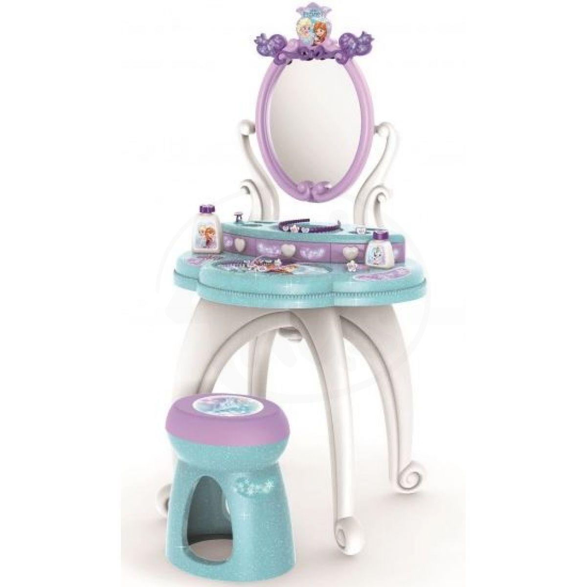 Smoby Ledové království 2 v 1 Toaletní stolek se židličkou