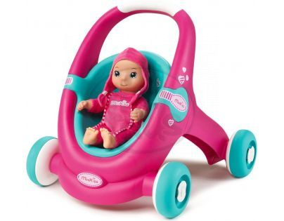 Smoby Minikiss Baby Chodítko a kočárek pro panenku