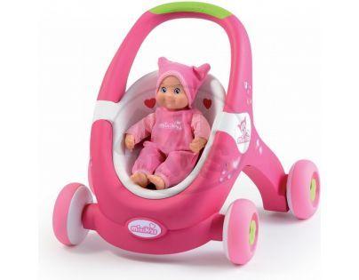 Smoby 160176 - Minikiss Baby odstrkovadlo 2v1