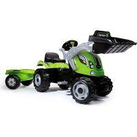 Smoby Šlapací traktor Farmer Max se lžící a vozíkem zelený - Poškozený obal
