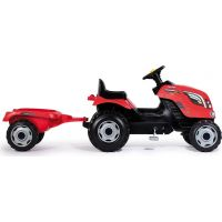 Smoby Šlapací traktor Farmer XL červený s vozíkem 2