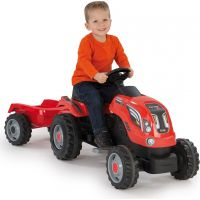 Smoby Šlapací traktor Farmer XL červený s vozíkem 3