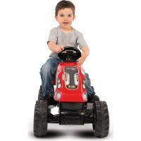 Smoby Šlapací traktor Farmer XL červený s vozíkem 4
