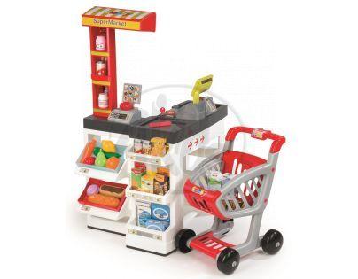 Smoby Supermarket bíločervený