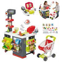 Smoby Supermarket s nákupním vozíkem a množstvím příslušenství