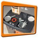 Smoby 024674 - Kuchyňka Bon Appetit oranžová 2