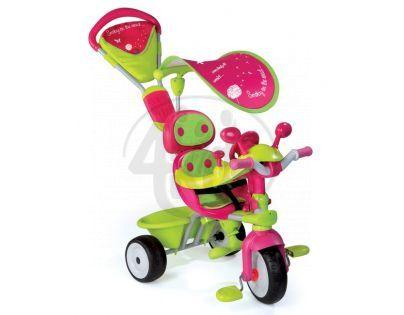 Smoby Tříkolka Baby Driver Confort stříška, zeleno- růžová 434118