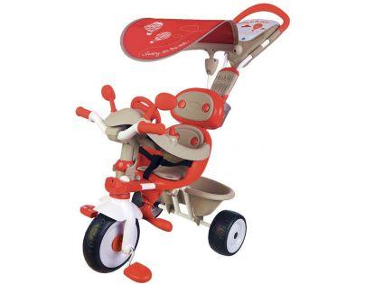 Smoby Tříkolka Baby Driver Confort červenošedá