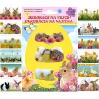 Anděl Smršťovací dekorace na vejce živá zvířátka 12 ks v balení